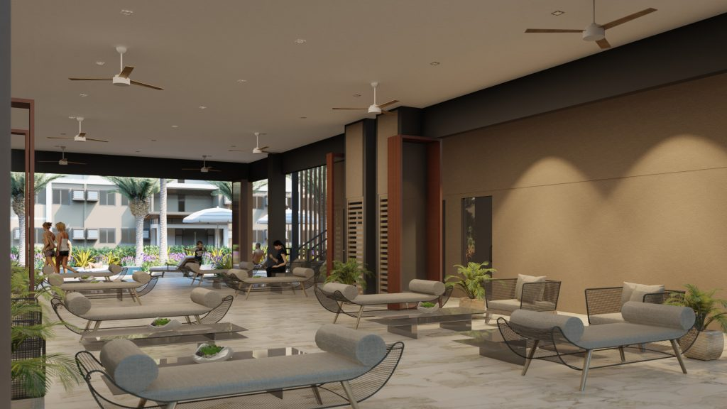 Lobby amenity area with chairs and sofa - The Meridian condo for sale in Bacoor