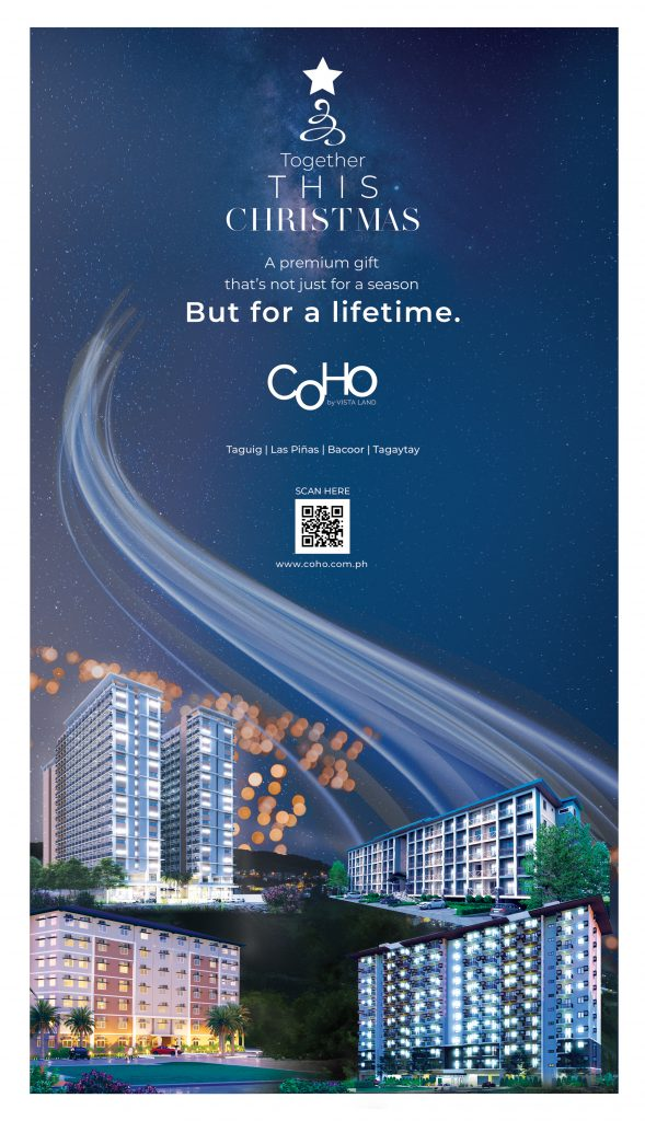 Condo for sale developments with building facade on the bottom of the poster and dark blue sky