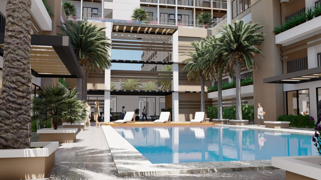 COHO by Vista Land condo for sale development with a swimming pool and greenery with a resort-inspired ambiance for condo dwellers