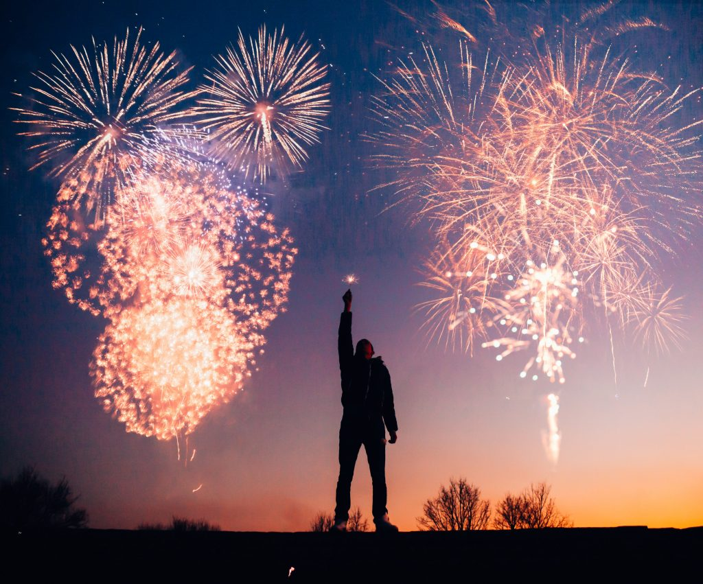 New Year, New Investments, Fireworks, Silhouette, Manny Pacquaio