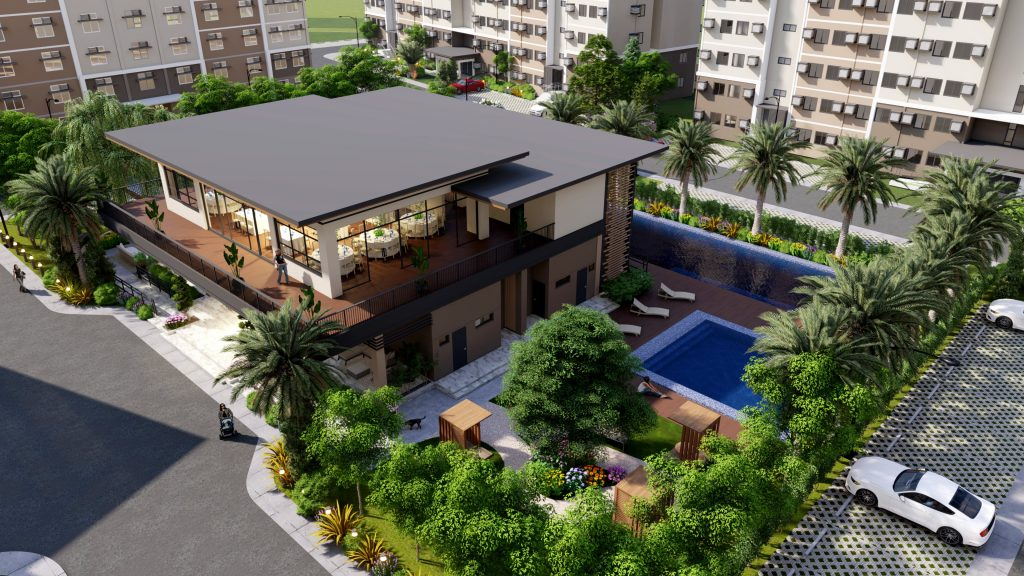 Condo in Bacoor Cavite - The Meridian - COHO by Vista Land - Amenity Aerial Perspective