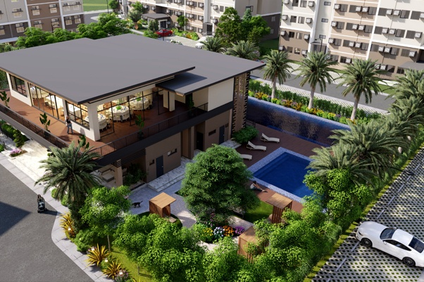 Featured Image - Condo in Bacoor Cavite - The Meridian - COHO by Vista Land - Amenity Aerial Perspective